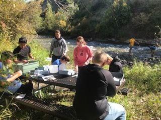 Water Quality monitoring along Rock Creek