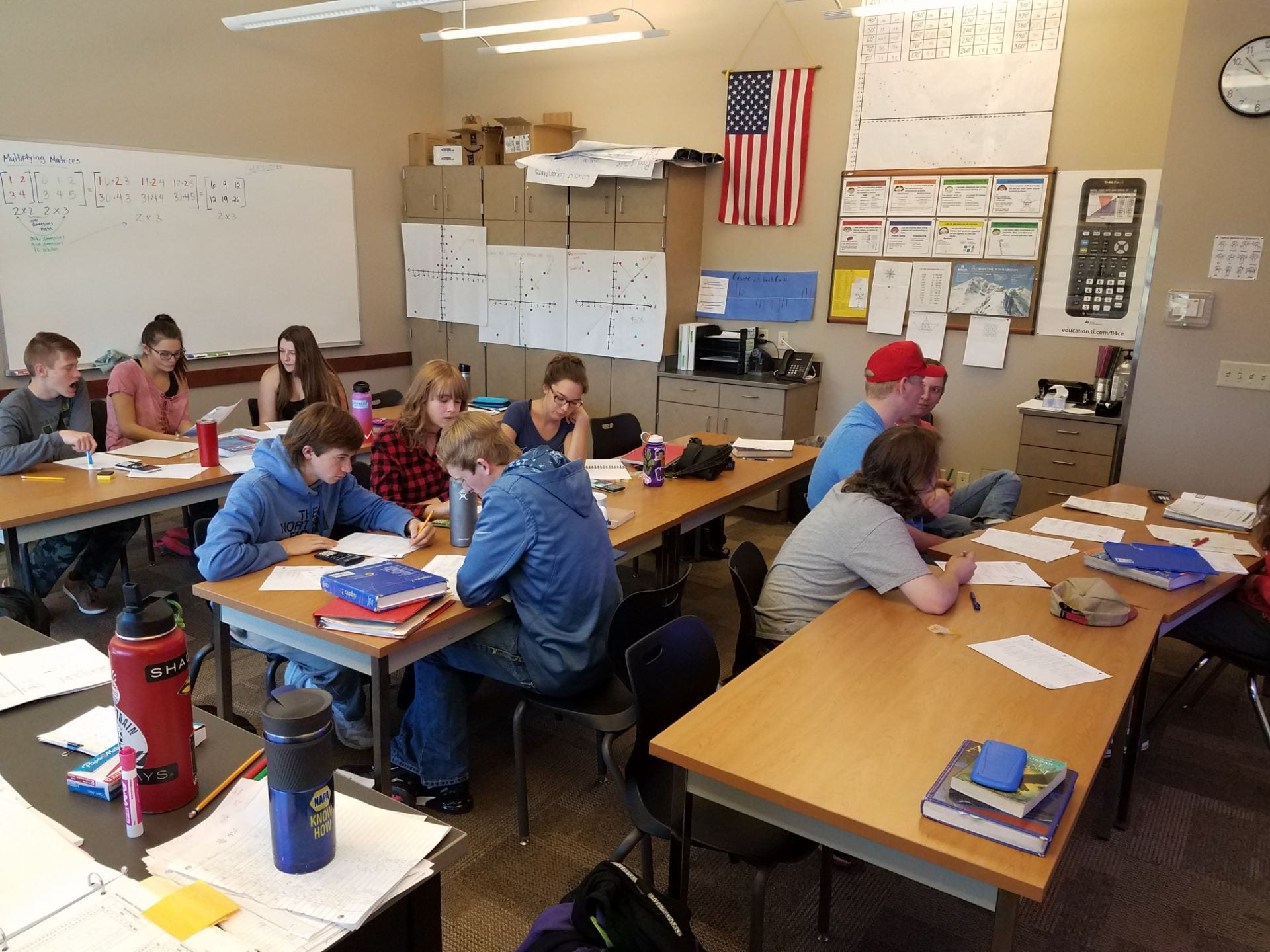 Students take their first practice ACT